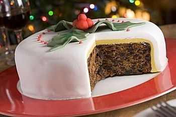 British Christmas Cake.Traditional British Christmas Cake