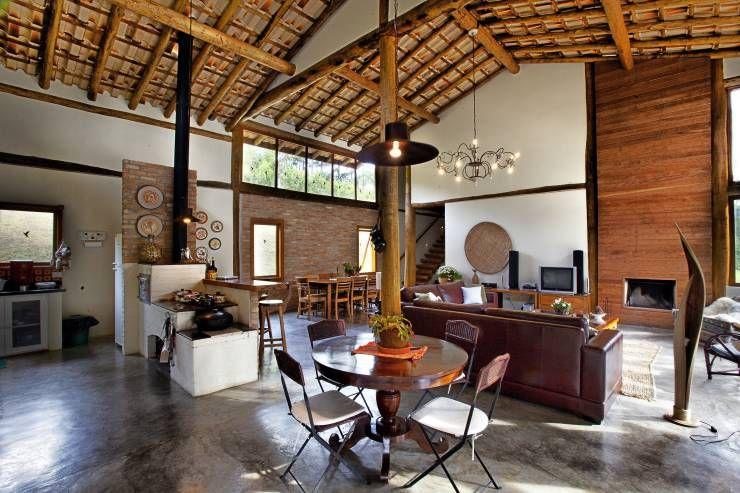 Casa r stica em s o paulo tem linda decora o de for Casas rusticas interiores