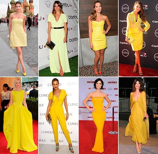 39 celebrities 39 con vestidos amarillos mejores looks - Que colores combinan con el amarillo ...