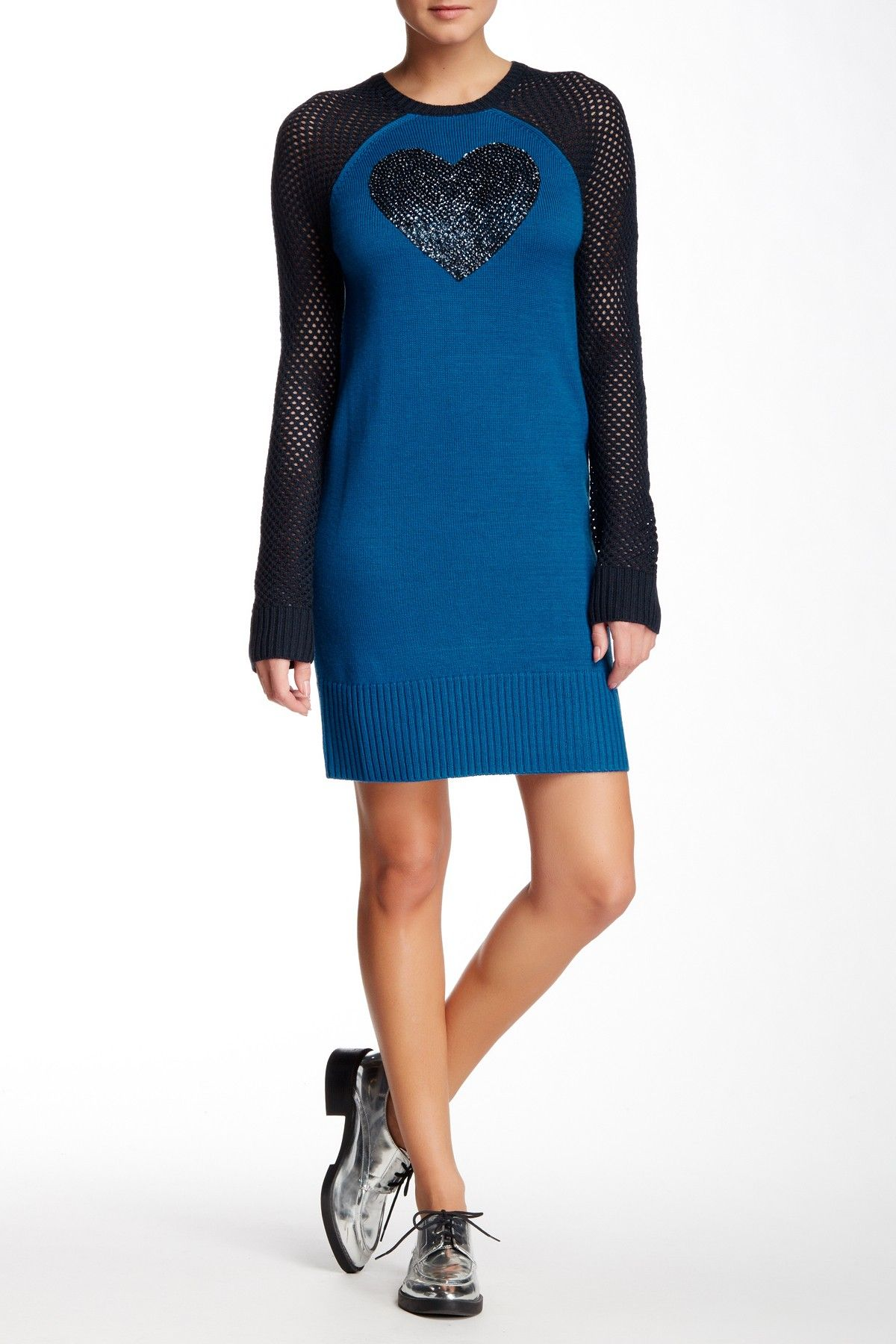 LOVE Moschino | Abito in Maglia Wool Blend Sweater Dress | Nordstrom Rack