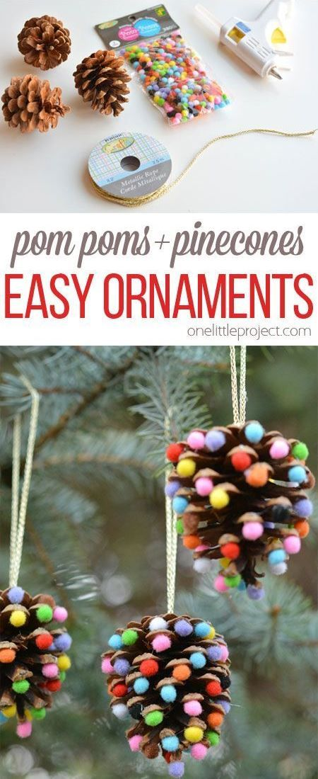 Just a little dab of hot glue - pom poms - pinecones - ribbon or ...