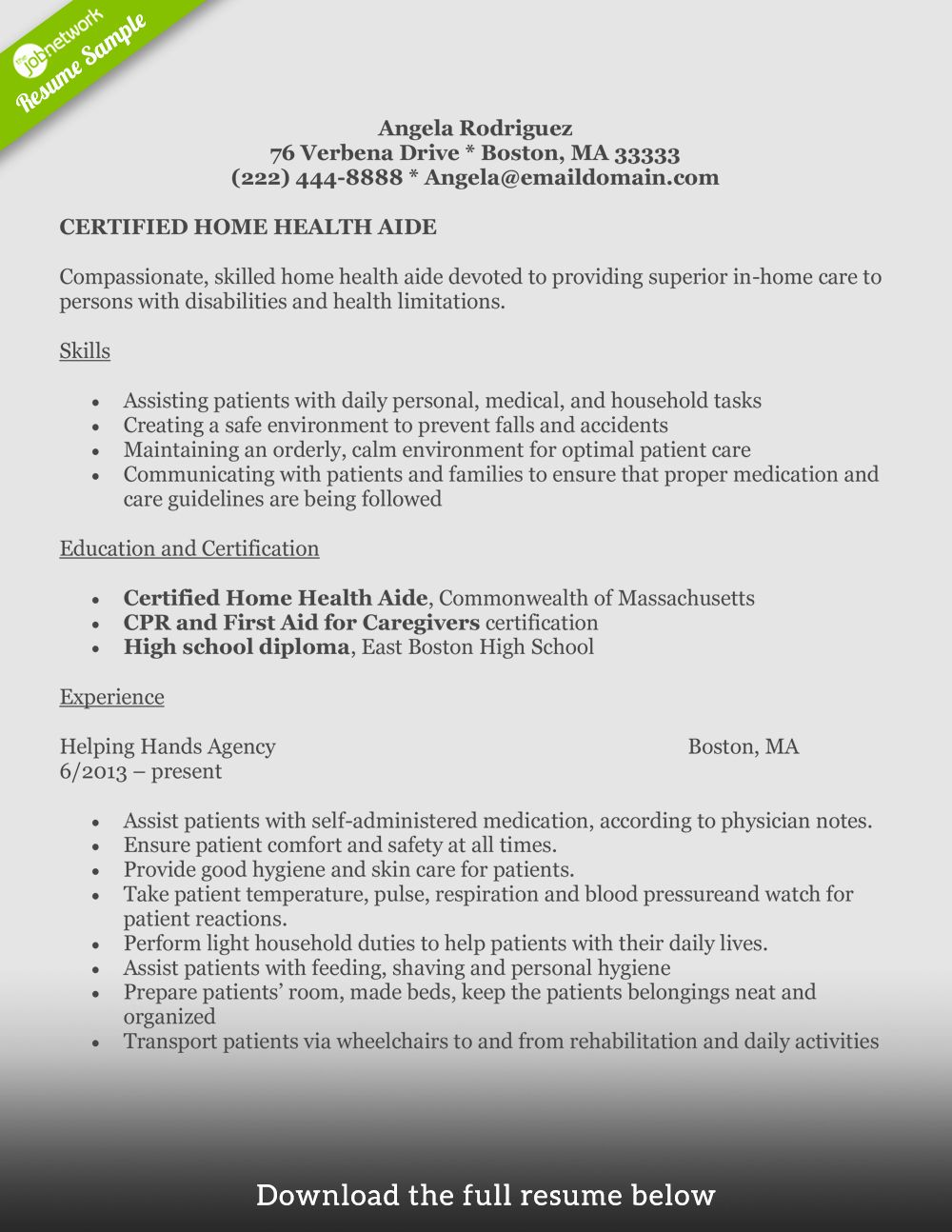 Home Health Care Resume Example Beautiful How to Write A