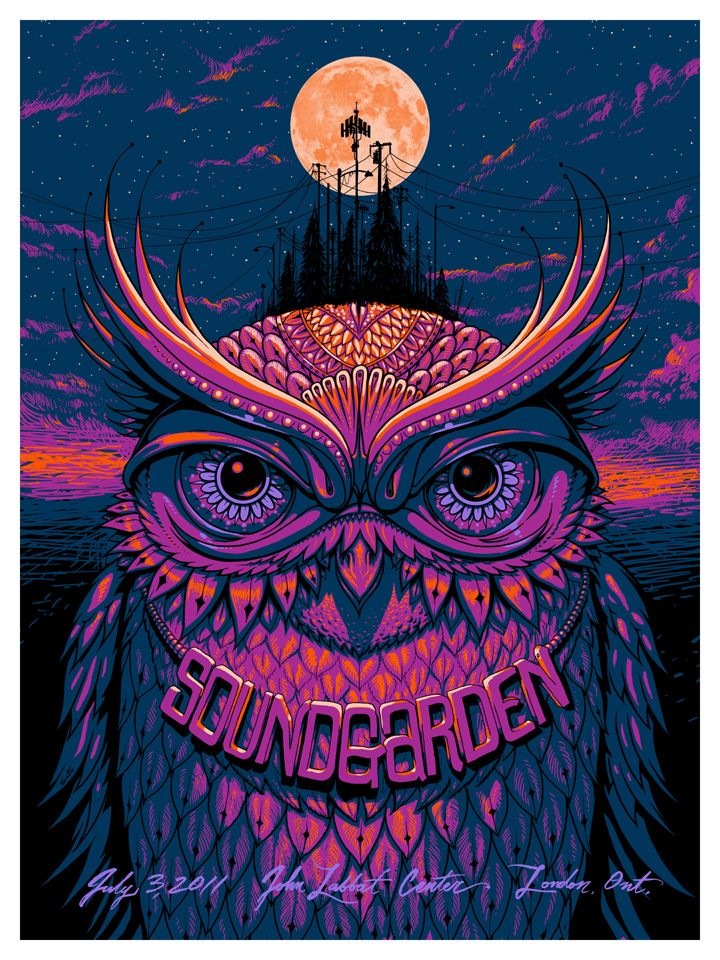 Soundgarden poster by Jeff Soto