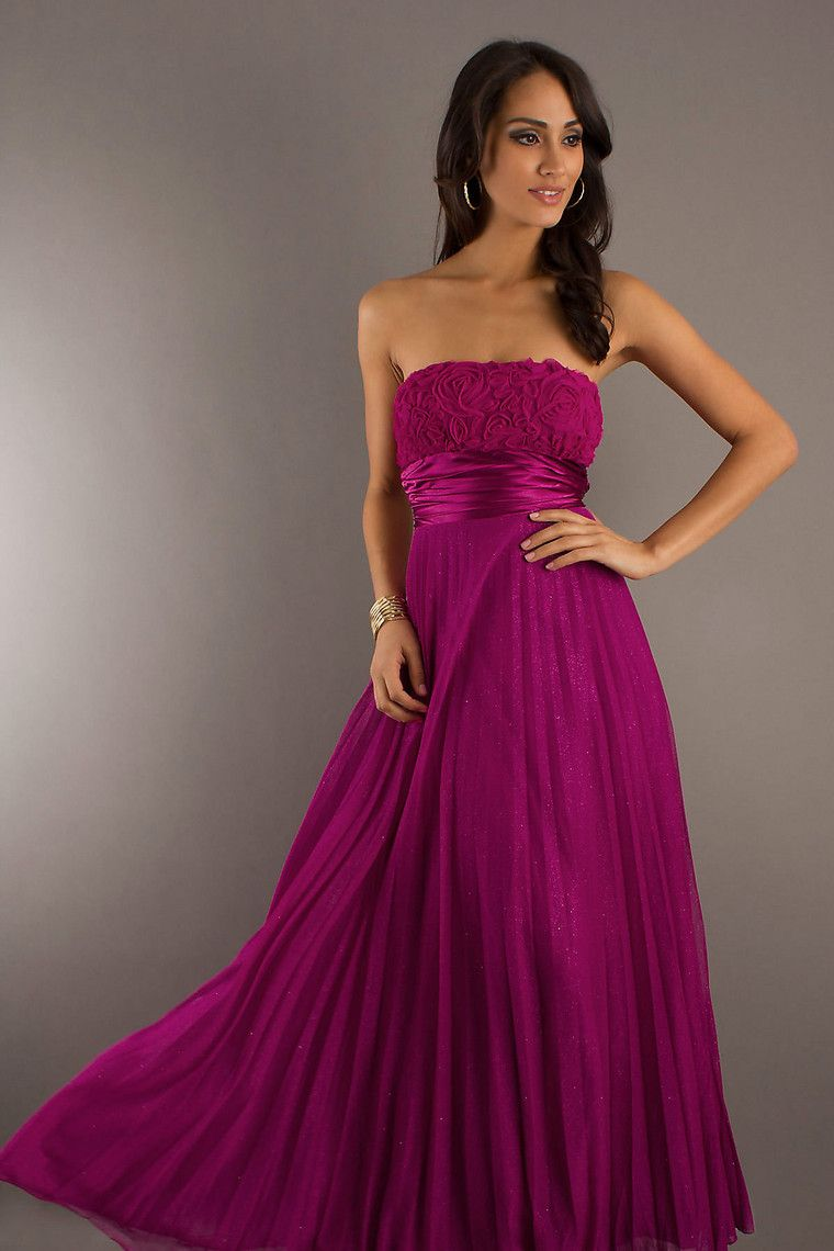 Classic & Traditional New Arrival Evening Dresses Strapless Ruffles ...