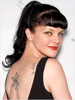 Pauley Perrette Neck Tattoo