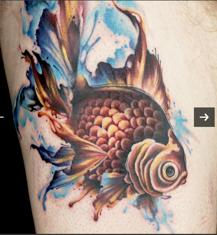 watercolor fish Ink master tattoos, Ink master, Ryan ashley
