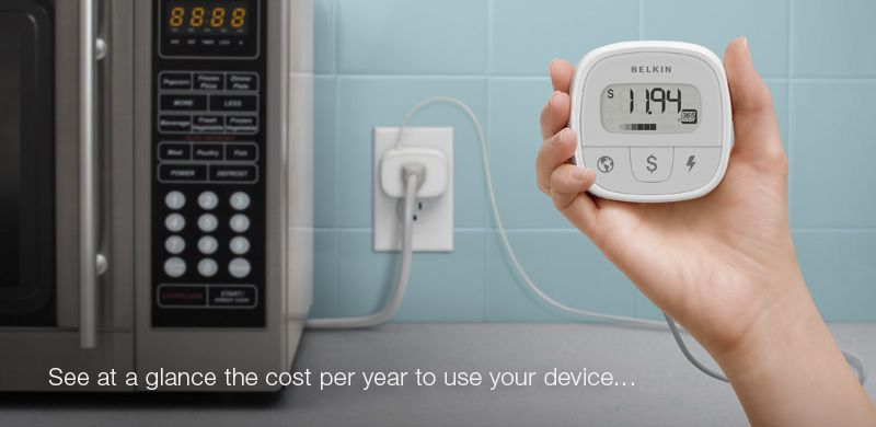 Conserve Insight™ - Energy Use Monitor.    Find out how much energy your devices really use—including, the cost of operation, the amount of carbon dioxide (CO₂) produced in generating the electricity consumed, and watts. See at a glance the true impact to your wallet—and the environment.