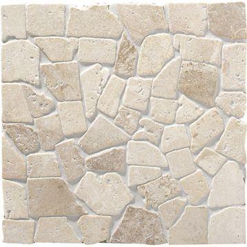 Mosa que sol mur en pierre naturelle Opus, beige, 305x305cm - carrelage en pierre naturelle salle de bain