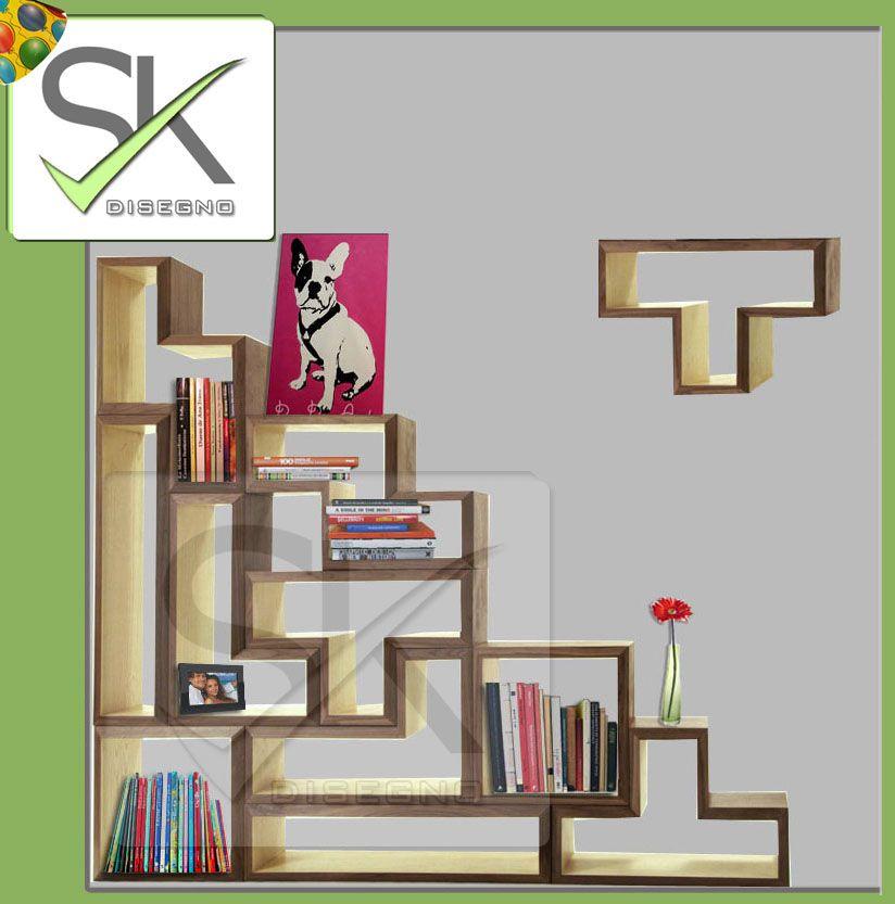 nueva linea retro modular basado en el tradicional juego tetris combinalos para mueble de tv - Tetris Planken