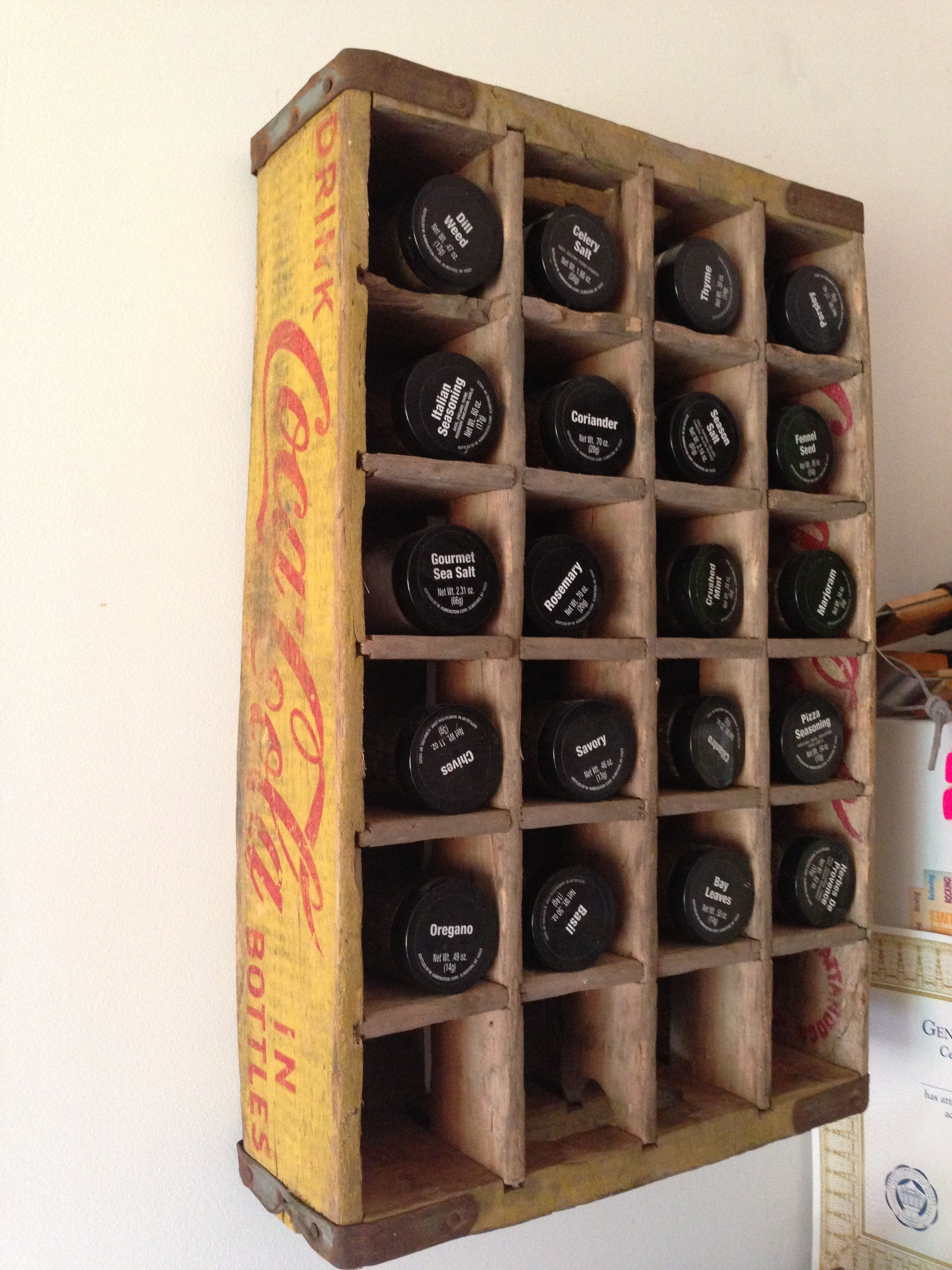 Old Coca Cola Crate Spice Rack Kitchen Remodel Home Decor