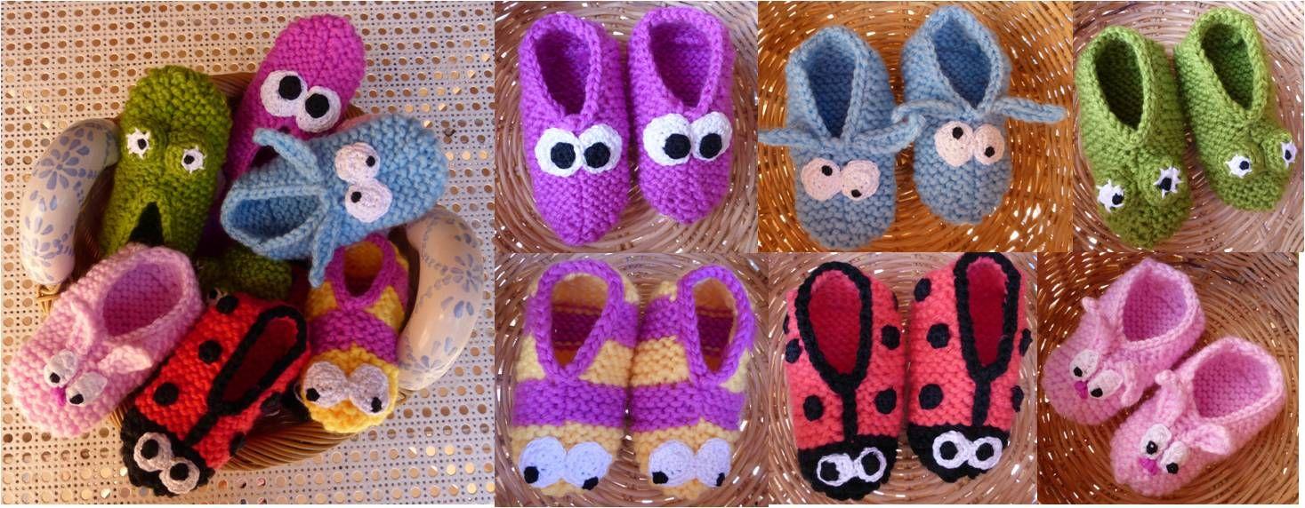 zapatillas crochet para casa - Buscar con Google   Manualidades ...