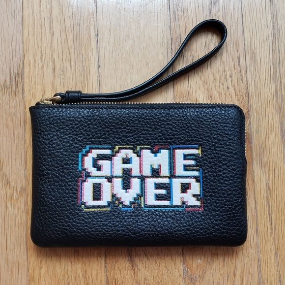 Coach Pac-Man Game Over Wristlet NWT Listing is for a Coach Pac-Man