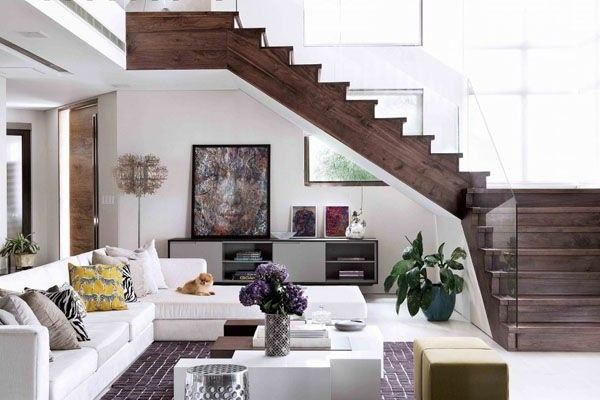 Image Result For Stairs In Living Room Flooring Pinterest Room - Living Room Design With Stairs