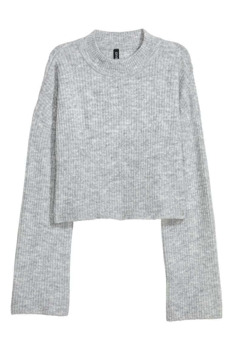 7e969710ea4578 H&M Knit Mock Turtleneck Sweater - Gray | Wishlist | Grey sweater ...