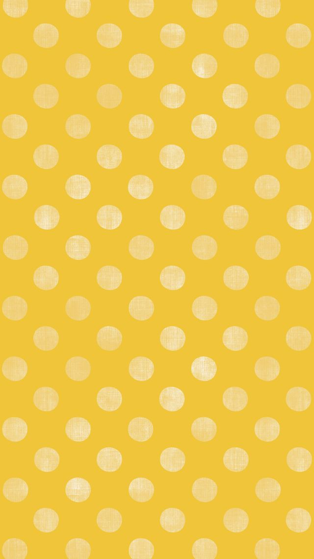 Tap And Get The Free App Pattern Unicolor Yellow Polka Dot Simple Girly Hd Iphone 5 Wallpaper Dots Wallpaper Wallpaper Iphone Cute Yellow Wallpaper