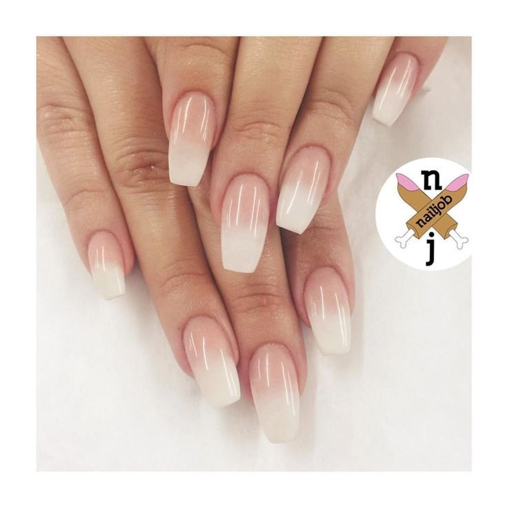 Tapered Square Baby Boomers for Mataya #nailjob | Ногти | Pinterest