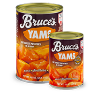 Candied Yams Recipe #sweetpotatocasserolewithmarshmallows Canned yams are glazed with butter and brown sugar, topped with marshmallow, and baked in this satisfying Thanksgiving classic. #candiedyams