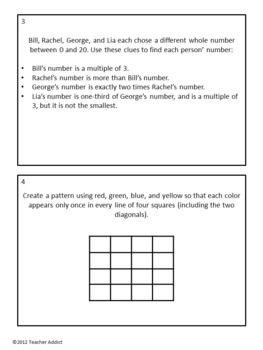 Critical Thinking Math Problems 3rd Grade - Third Grade Logic