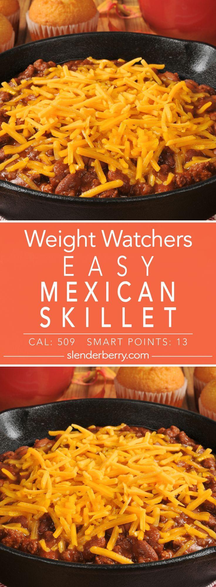 Easy mexican skillet casserole recipe weight watcher