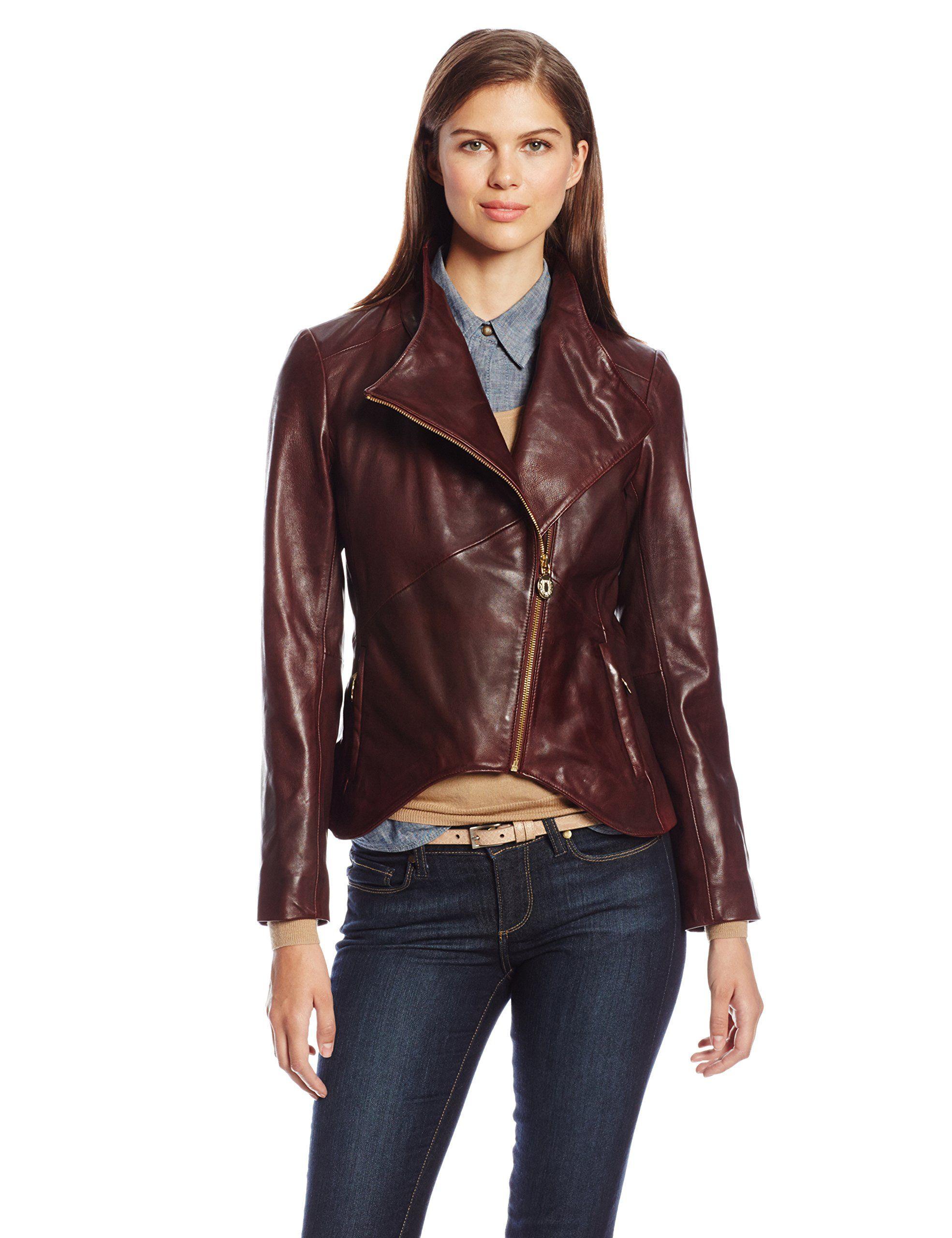 Elie Tahari Women S Beverly Leather Jacket At Amazon Women S Clothing Store My Precccciiiiouuuuussss Leather Jacket Jackets Coats For Women [ 2560 x 1969 Pixel ]