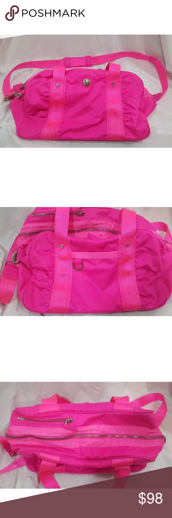 Neon Pink Lululemon Duffle Bag 10 Condition Bright Great Gym Just Want Something A Little Less Via P