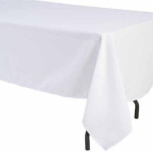 Shindigz Rectangular Polyester Tablecloth Walmart Com White Table Cloth Table Cloth Tablecloth Sizes