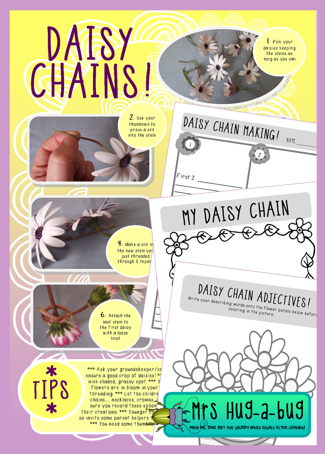 Daisy Chain Freebie Celebrate Spring With This Fun