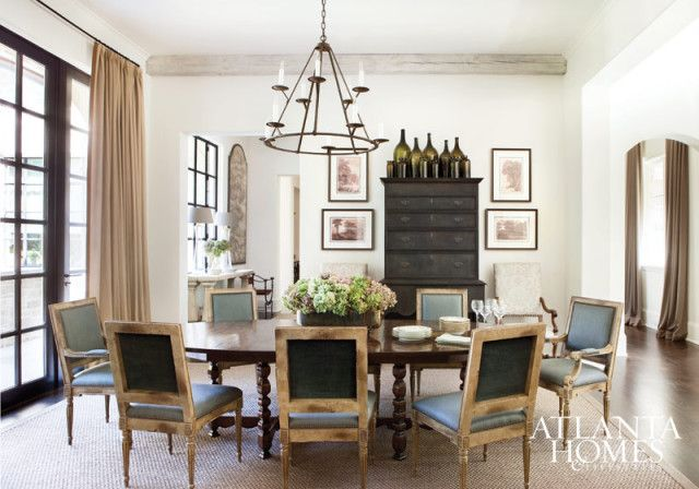 In The Dining Room A Set Of Chairs Upholstered Great