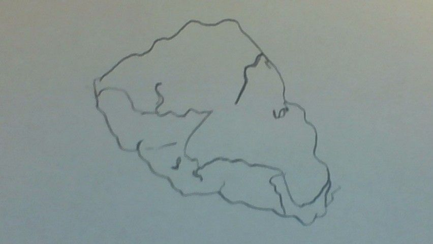 Blind Contour Line Drawing Definition : In this piece of work was a blind contour line drawing rock