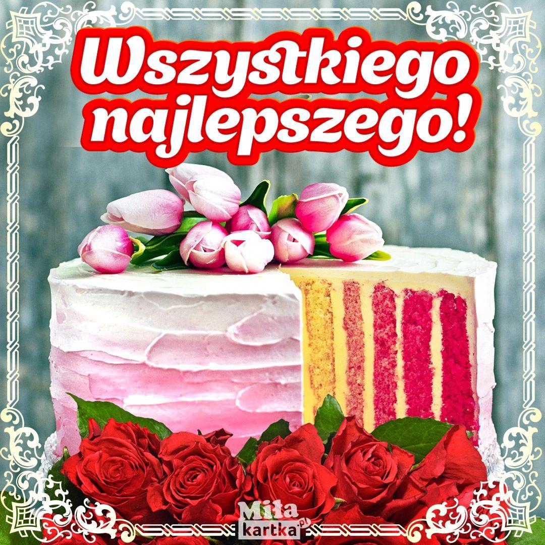 Kolorowy Urodzinowy Torcik Kartki Urodzinowe Kartki Kartki