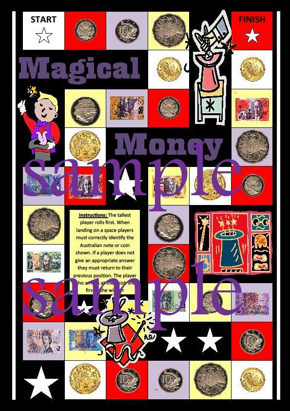 Magical Money Board Game. Australian currency | Money | Pinterest ...