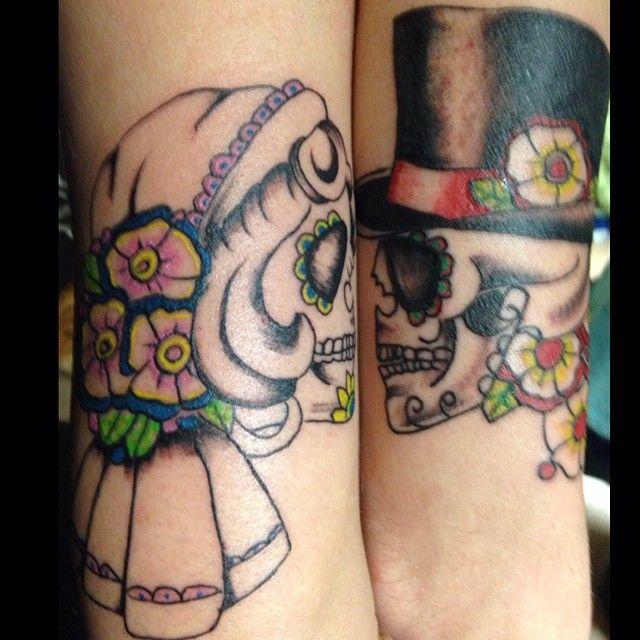 Perfect Couple Skull Tattoo Cool Tattoo Designs Couples Tattoo Designs Tattoos Skull Tattoo