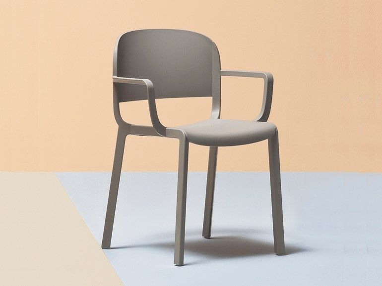 Segis Sedie ~ Dragonfly stacking chair with armrests and anti panic writing