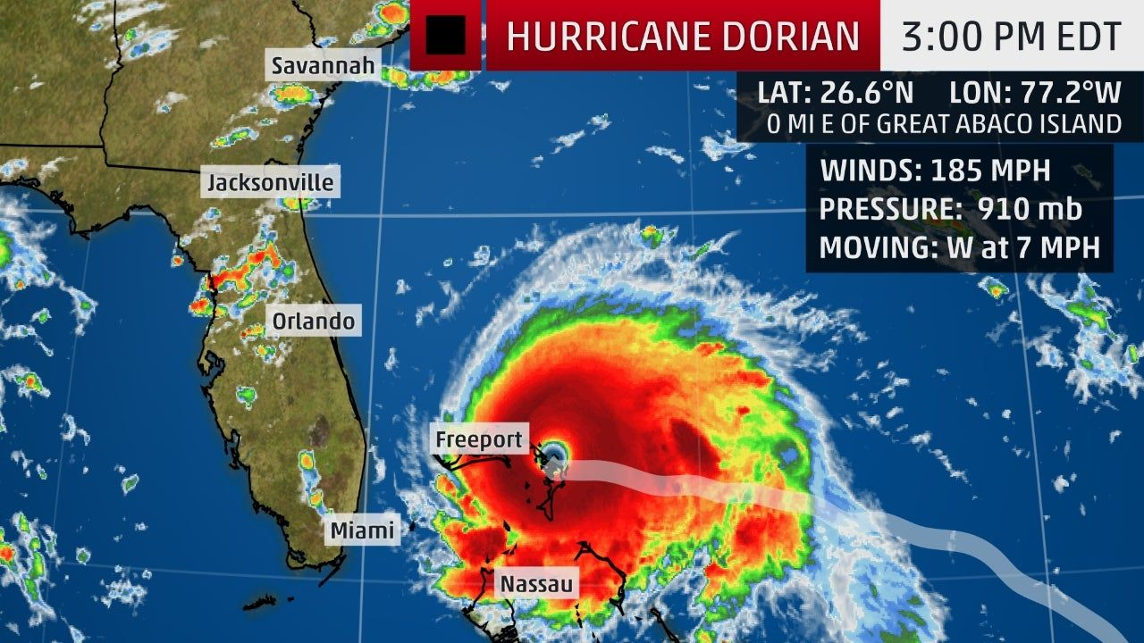 Hurricane Dorian Makes Third Landfall As A Category 5 In The Northwestern Bahamas Hurricane Warning Issued In The Weather Channel Atlantic Hurricane National Hurricane Center