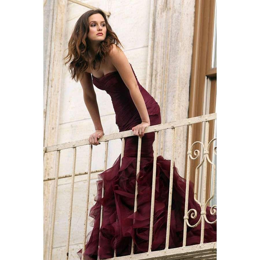 Vera Wang Red Wedding Gowns | Vera Wang Blair Wine Red Mermaid Foam Wedding Dress Style 4230