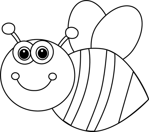 Black and White Cute Cartoon Bee | Needle work | Pinterest | Cartoon ...