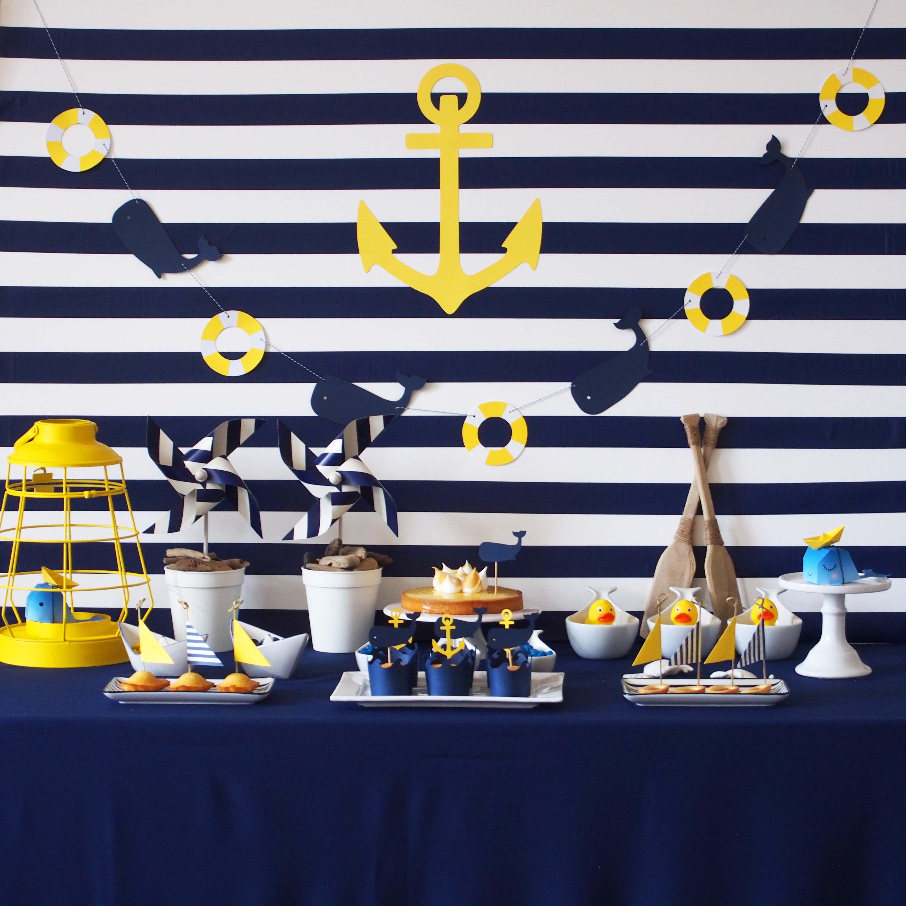 anniversaire theme marin