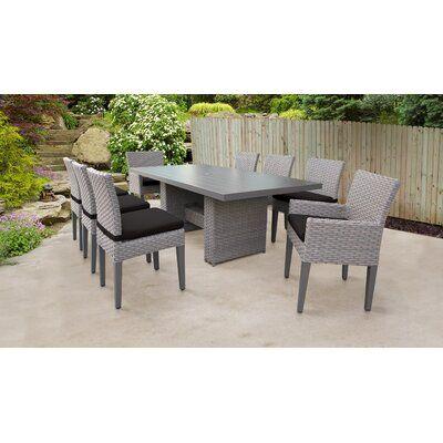 Sol 72 Outdoor Rochford 9 Piece Outdoor Patio Dining Set With