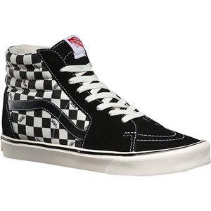 Recommend Discount Mens Casual Shoes - Vans Sk8 Hi Lite (Reissue) Black/Check