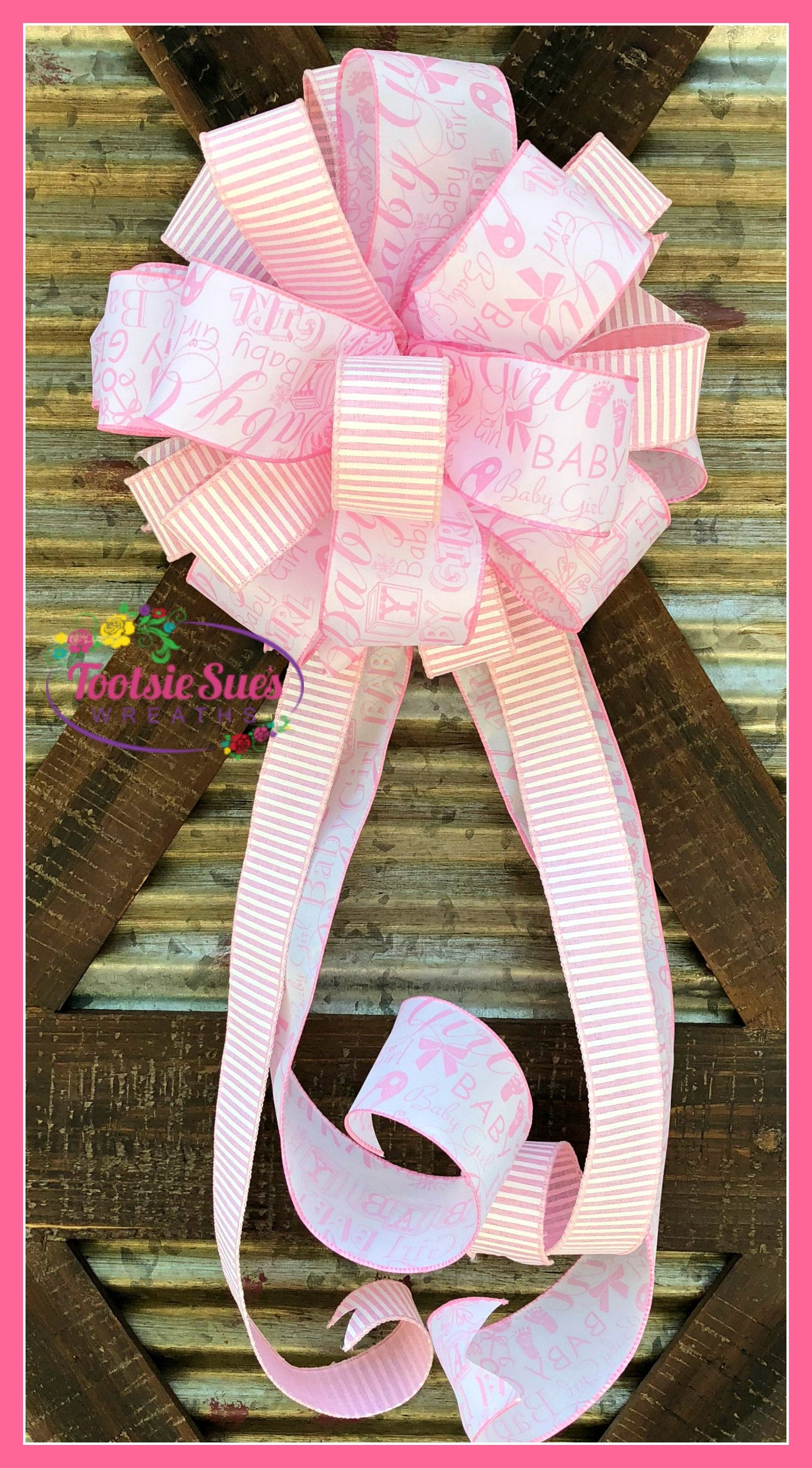 Baby girl bow package gift bow gift bow baby shower bow