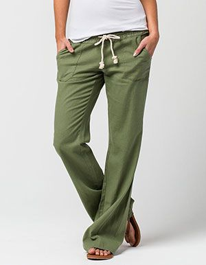ce8ff21db2 ROXY Oceanside Beach Womens Pants Green | Beachin' | Fashion, Pants ...