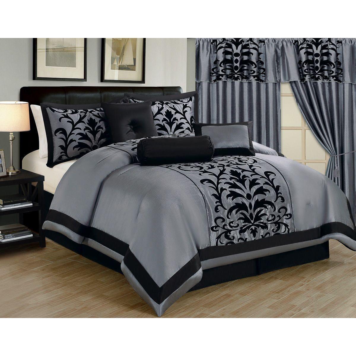 This Elegant Damask Comforter Set Is Crafted Of High Quality 100 Percent Polyester For Comfort Luxury Bedding Master Bedroom Comforter Sets Bed Comforter Sets