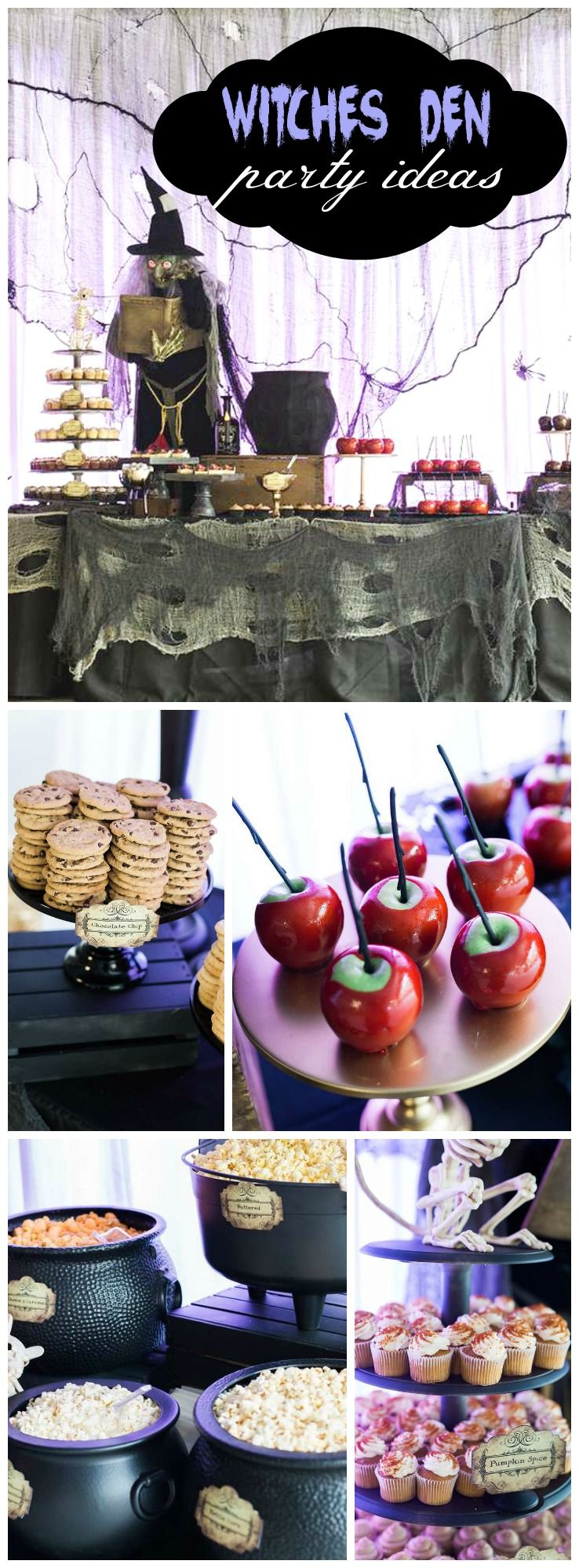 Witches Halloween Party Ideas | Popcorn bar, Halloween parties and ...