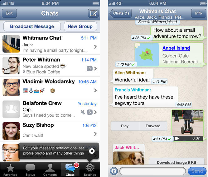 Download Whatsapp messenger for iPhone,iPad and iPodtouch