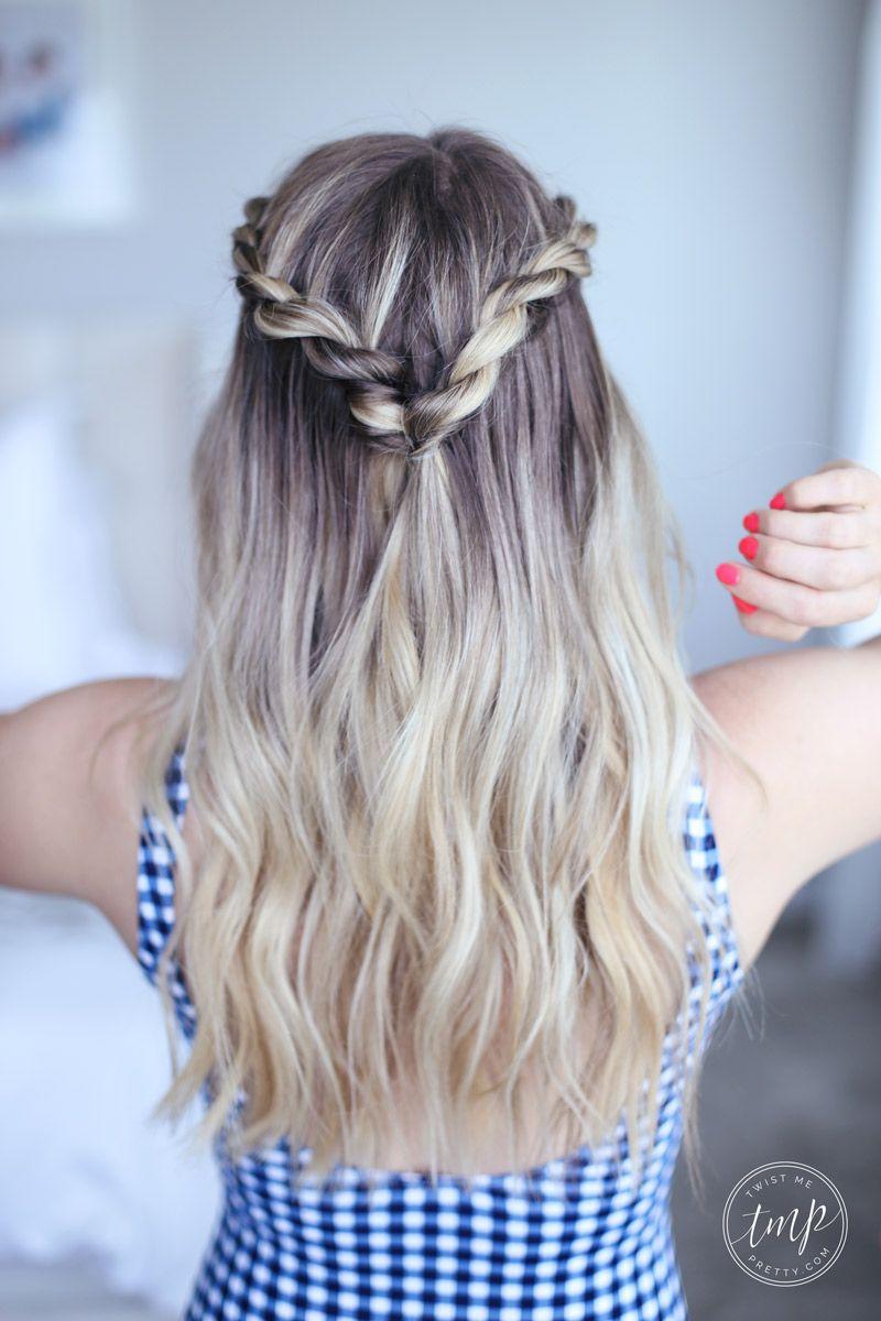 Cute Summer Twists Beach Hairstyle Twist Me Pretty Easy Work Hairstyles Medium Hair Styles Easy Hairstyles