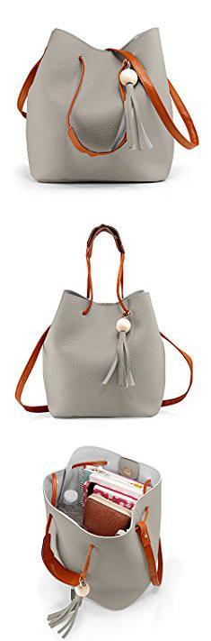 c2d29c8b41ee Gussaci Handbags. Oct17 Fashion Tassel buckets Tote Handbag Women ...
