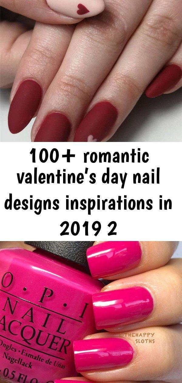 100+ romantische Valentijnsdag nagelontwerpen Inspiraties in 2019, # Valentijnsd…