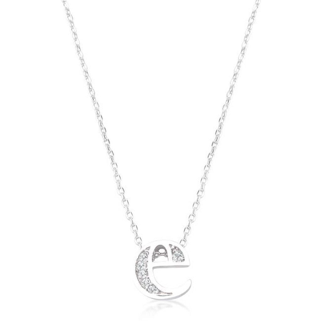 Initial e crystal pendant products pinterest initials initial genuine rhodium plated plated pave cubic zirconia initial pendant with lobster clasp set polished into a lustrous silvertone finish all pendants come with aloadofball Image collections