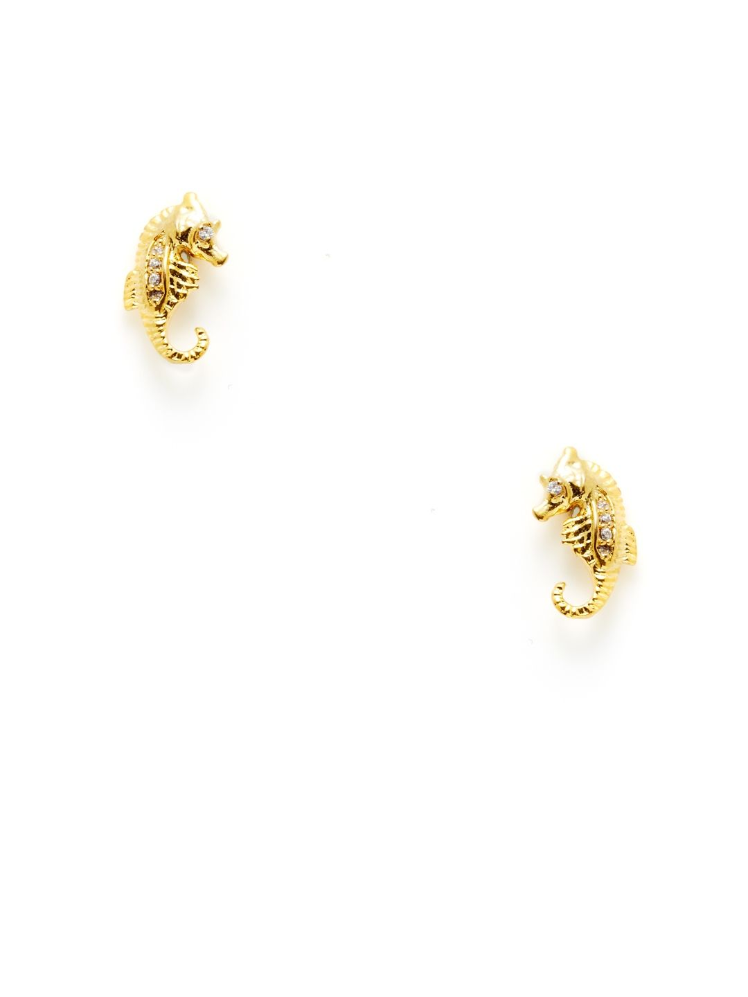 d602ae36d Gold Seahorse Stud Earrings by Tai Jewelry at Gilt | Jewels ...