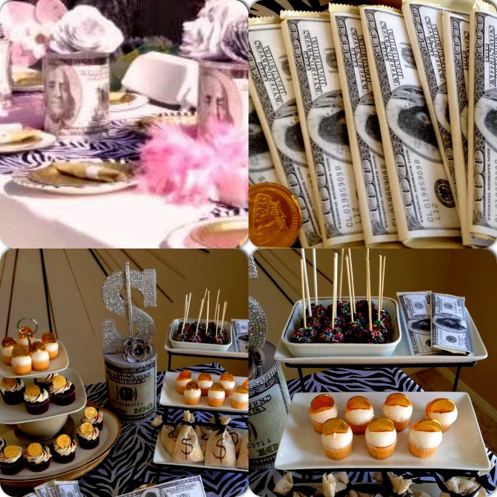 Money theme party Themed Parties Pinterest Birthday party
